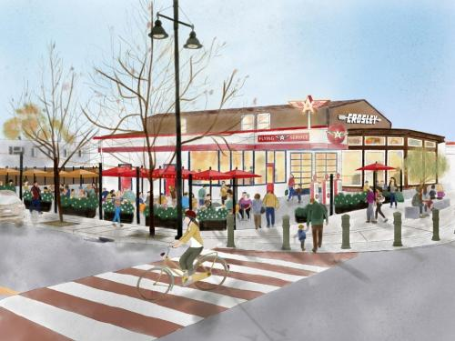 Flying A Service Rendering - Castro Valley Boulevard and Wilbeam Ave View